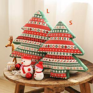 クッションカバー クリスマスマスコット 抱き枕カバー 枕カバー 麻 Merry Christmas 2点