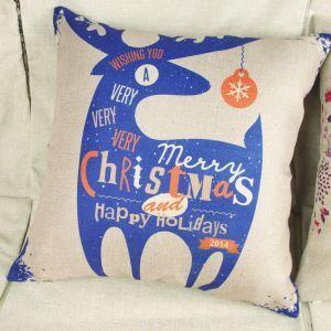 クッションカバー クリスマスマスコット 抱き枕カバー 枕カバー 麻 Merry Christmas