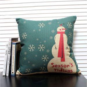 クッションカバー クリスマスマスコット 抱き枕カバー 枕カバー 麻 5点