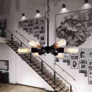 ペンダントライト 工業照明 天井照明 照明器具 北欧風照明 6灯