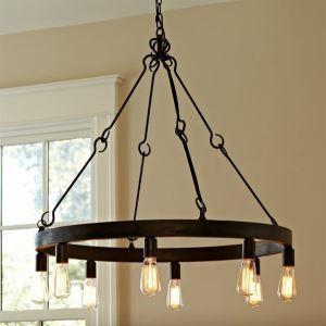 ペンダントライト 天井照明 工業照明 レトロな照明器具 8灯