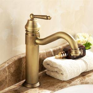 洗面蛇口 バス水栓 水道蛇口 冷熱混合水栓 真鍮 ブロンズ色 29cm