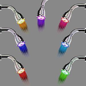7色LEDハンドシャワー シャワー水栓 シャワー製品 アーム非付属