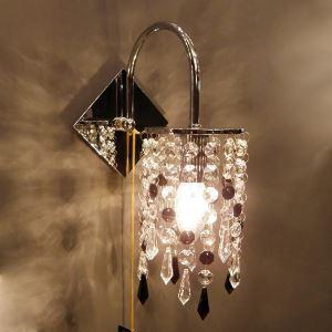 壁掛けライト ウォールランプ 玄関照明 クリスタル 照明器具 ブラケット 1灯