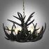 シャンデリア ペンダントライト リビング照明 照明器具 鹿角照明 店舗 寝室 樹脂製 6灯 黒色 北欧風 LED対応