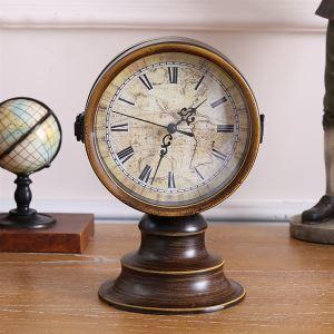 置き時計 静音時計 両面時計 アンティーク