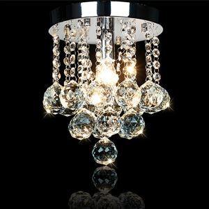 シーリングライト 照明器具 天井照明 リビング 寝室 クリスタル付き 1灯