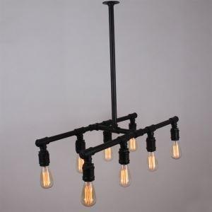 ペンダントライト パイプライト 天井照明 照明器具 北欧風照明 ビンテージ 8灯