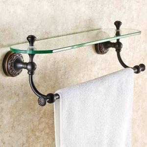 化粧棚 シェルフ ガラス棚 浴室棚 バスアクセサリー 浴室収納 アンティーク