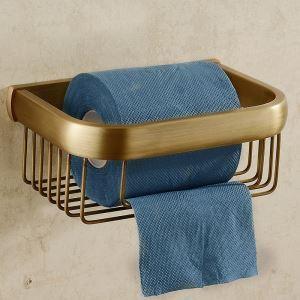 トイレットペーパーホルダー バスアクセサリー 真鍮製 アンティーク