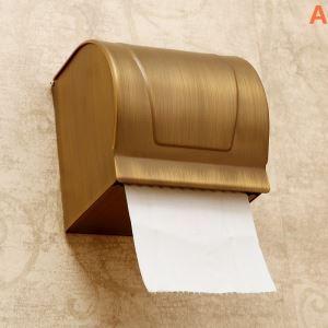 トイレットペーパーボックス ペーパーホルダー バスアクセサリー 真鍮製 アンティーク