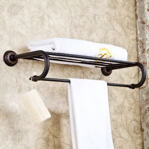 浴室タオルラック タオル掛け タオル収納 ハンガー バス用品 真鍮製 ORB