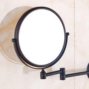 室内用ミラー 壁掛け化粧鏡 浴室収納 拡大鏡付き スイング可能 ORB バスアクセサリー YWA067