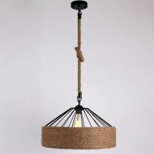 ペンダントライト 照明器具 店舗照明 玄関照明 食卓照明 ロープ照明 カントリー風 1灯 LTB870755