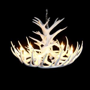 鹿角シャンデリア ペンダントライト 鹿角照明 リビング/店舗照明 樹脂製 9灯 白色 LED電球付 ALWHA12L9N1W
