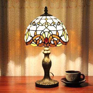 テーブルランプ ティファニーライト ステンドグラスランプ 卓上照明 1灯 D20/30cm