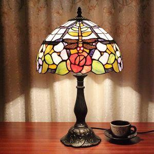 テーブルランプ ティファニーライト ステンドグラスランプ 卓上照明 寝室スタンド 1灯 12in