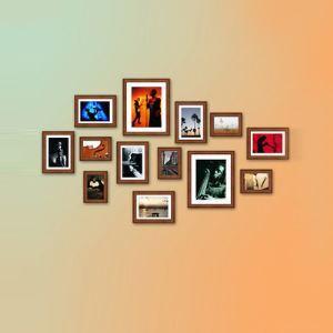 壁掛けフォトフレーム 写真用額縁 フォトデコレーション 木製 地中海風 13個セット 複数枚
