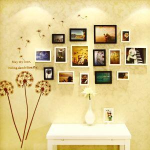 壁掛けフォトフレーム 写真用額縁 フォトデコレーション 木製 15個セット 複数枚