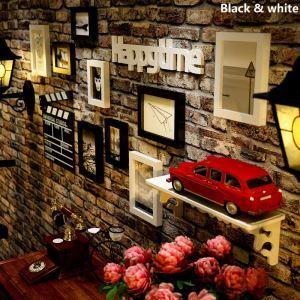 壁掛けフォトフレーム 写真用額縁 フォトデコレーション 木製 9個セット 複数枚
