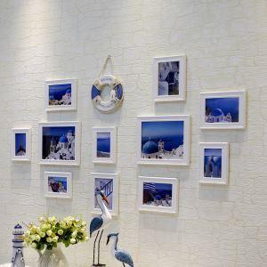 壁掛けフォトフレーム 写真用額縁 フォトデコレーション 木製 地中海風 11個セット 複数枚