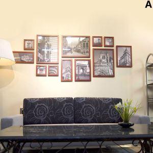 壁掛けフォトフレーム 写真用額縁 フォトデコレーション 木製 北欧風 12個セット 複数枚