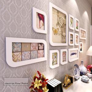 壁掛けフォトフレーム 写真用額縁 フォトデコレーション 木製 12個セット 複数枚