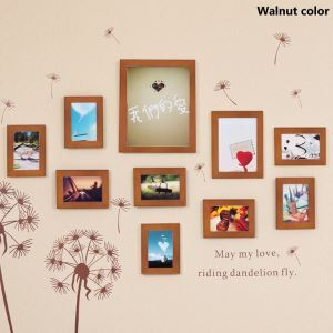 壁掛けフォトフレーム 写真用額縁 フォトデコレーション 木製 10個セット 複数枚