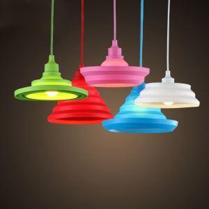 ペンダントライト 照明器具 玄関照明 子供屋照明 折畳み カラフル 5色 1灯