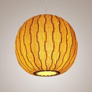 ペンダントライト 照明器具 店舗照明 天井照明 アジアン照明 天然突き板製 スイカ型 和風 1灯 PLOP1001S