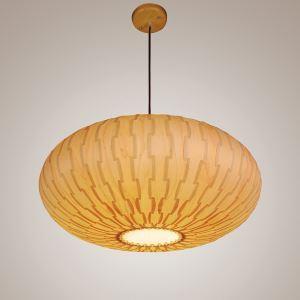 ペンダントライト 和風照明 天井照明 照明器具 天然突き板製 3灯