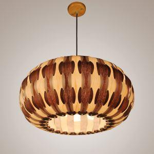ペンダントライト 和風照明 天井照明 照明器具 天然突き板製 1/3灯