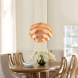 ペンダントライト 和風照明 松笠型照明 天井照明 天然突き板製 1灯