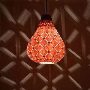 ペンダントライト 和風照明 天井照明 照明器具 天然突き板製 1灯
