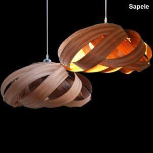 ペンダントライト 照明器具 リビング照明 店舗照明 アジアン照明 天然突き板製 寝室 食卓 和風 1/3灯 PLOP2080M