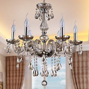 シャンデリア リビング照明 照明器具 ダイニング照明 店舗 寝室 クリスタル 豪華 オシャレ 6灯 LED電球対応 LT912