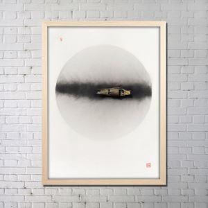 実物絵画 インテリア画 アート実物 セラミック フレームなし D 36*48inch FAREAL2404
