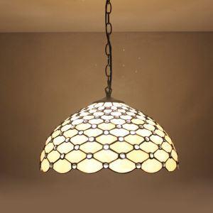 ティファニーライト ペンダントライト ステンドグラスランプ リビング照明 玄関照明 D20/30/40cm LTPL184