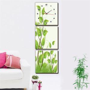 壁掛け時計 壁絵画時計 静音時計 壁飾り オシャレ 3枚パネル K03