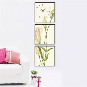 壁掛け時計 壁絵画時計 静音時計 壁飾り オシャレ 3枚パネル K06