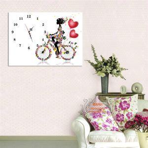 壁掛け時計 絵画時計 静音時計 キャンバス 1枚パネル K10