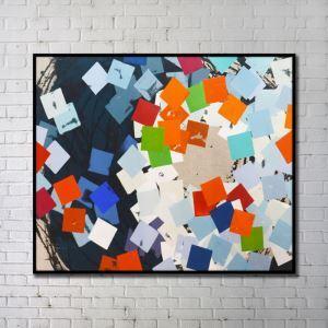 プリント絵画 抽象絵画 アートプリント フレームなし 48*36inch FAxdart159