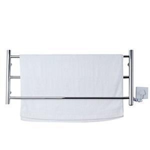 壁掛けタオルウォーマー バスヒーター タオルハンガー+簡易乾燥 ステンレス鋼 50W