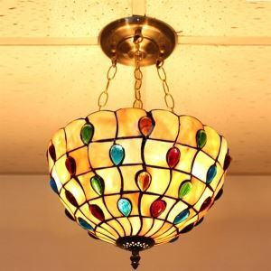 ペンダントライト ステンドグラスランプ ティファニーライト 照明器具 ダイニング照明 3灯 D30/40cm