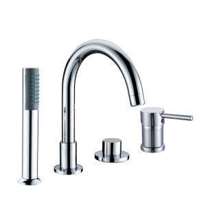 浴槽水栓 バス水栓 シャワー混合水栓 ハンドシャワー付 水道蛇口 2ハンドル クロム