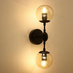 壁掛けライト ウォールランプ 照明器具 ブラケット 玄関照明 レトロ 魔豆型 2灯