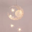 LEDペンダントライト 子供屋照明 照明器具 星&月型照明 玄関照明 吹き抜け照明 LED対応 5灯 工事不要