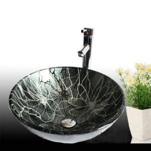 洗面ボール 手洗い鉢 洗面器 手洗器 洗面ボウル 洗面台 ガラス 排水金具付 オシャレ 丸型 HAM018