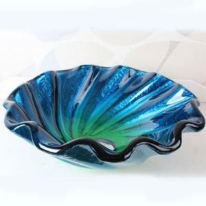 洗面ボール 手洗鉢 洗面器 強化ガラス製 排水金具付 オシャレ 芸術型 HAM050
