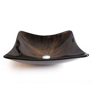洗面ボール 手洗い鉢 洗面器 手洗器 洗面ボウル 洗面台 ガラス 排水金具付 オシャレ 船型 HAM068